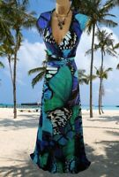 MONSOON  STUNNING RARE ALLESANDRA  FLORAL PRINT   STRETCH MAXI  DRESS UK 16 VGCT