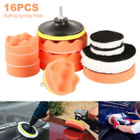 "16pcs 3""/5"" Buffing Polishing Pads Sponge Wheel Mop Kit For Car Polisher Drill"