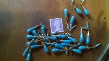 Turquoise Howlite  Teardrop  Piece for Earring / Necklace  etc.    With Beads