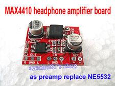 DC 3V-12V MAX4410 Micro Headphone Amplifier Board Pre-amplifier Replace NE5532
