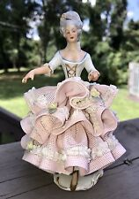 Beautiful Dresden Lace Figurine~Colonial Lady