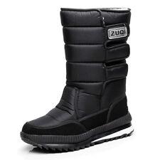 Pop Men's Winter Snow Boots Outdoor Warm Shoes Boys Waterproof Mid-Calf Boots