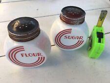 Vintage Anchor Hocking Sugar Flower Shakers Vitrock Depression Milk Glass