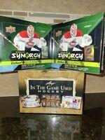 '21 Leaf In The Game Used Hockey Hobby Box Break w/ 2 Boxes of Synergy Hockey !!