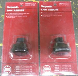Shopsmith genuine accessories - lot of 2 saw arbors (1-1/4 in.) NEW