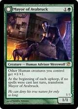 MAYOR OF AVABRUCK Innistrad MTG Green Creature—Human Advisor Werewolf RARE