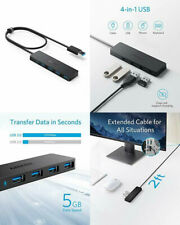 Anker 4-Port USB 3.0 Hub Ultra-Slim Data Hub with 2 ft Extended Cable