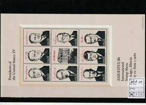 America / USA postfris 1986 MNH block 20 - Presidents of the United States