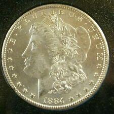 1884-CC Carson City Mint Uncirculated Morgan Silver Dollar Coin GSA Hoard / COA