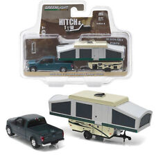 Greenlight 2015 Ford F-150 Pick Up Truck and Pop-Up Camper Trailer 1:64 32080D