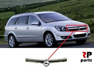 FOR OPEL ASTRA H 2003 - 2007 NEW FRONT BUMPER CENTER GRILLE CHROME MOLDING