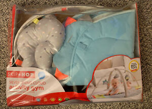 Skip Hop Silver Lining Cloud Plush Baby Play Mat Infant Activity Gym Grey
