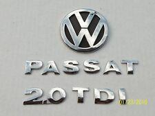 2004 2005 VW PASSAT TDI 2.0 REAR TRUNK CHROME EMBLEM LOGO BADGE SIGN SET OEM