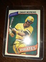 1980 Topps #165 Omar Moreno Pittsburgh Pirates VINTAGE BASEBALL CARD