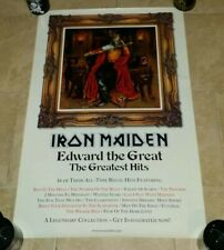 IRON MAIDEN  Edward  the Great  cd album promo record store poster