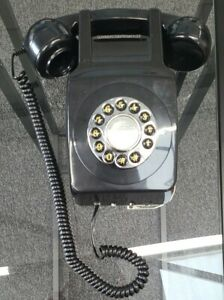 Retro Wall Phone 746 Push Button Vintage Style Corded Telephone Wall Mounted