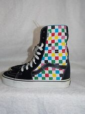 Vans Off The Wall MULTI COLOR Checkered Sneakers Size 5 New