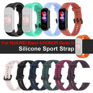 Replacement Watch Band Silicone Strap Soft For HUAWEI Band 4 Honor Band 5i