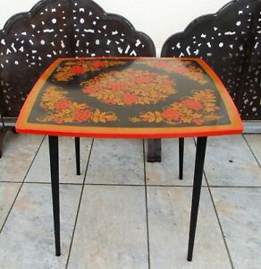 Vintage Khokhloma Table Painted Art Russian Height 59 CM