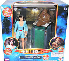 """5"""" Doctor Who Peri and Sil with Tank Action Figure Set, New!"""