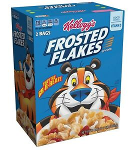 KELLOGG'S FROSTED FLAKES CEREAL 55 oz SEALED BAGS FOR FRESHNESS