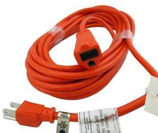 Outdoor Extension Cord 50' Feet UL Heavy Duty 16 Gauge 3-Prong Grounded  Orange