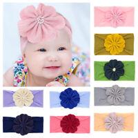 Head Wraps Toddler Turban Baby Nylon Headbands Girls Flower Hairband