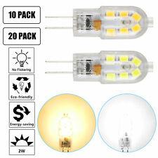 10/20 Pcs AC/DC 12V G4 LED Light Bulb White& Warm Replacement Crystal Bulbs Lamp