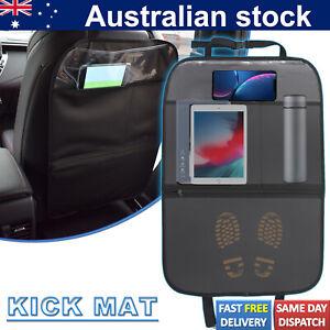 Leather Car Seat Back Protector Mats Storage Bag Anti Scratch Mat Anti-kick Pad