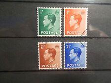 Gb 1936 Edward Viii Definitives Stamps Set~(4)~Fine Used ~Uk Seller