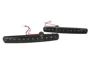 ASTON MARTIN DB9, DBS, VANTAGE, RAPIDE, VIRAGE LED FRONT BUMPER LIGHTS - BLACK