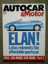 Autocar September Cars, 1980s Transportation Magazines