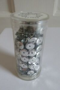 Tube of Gutermann 6mm Silver Cup Sequins ~ 9g