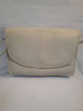 Shoulder Bag Crossbody Vintage Genuine Leather Beige Made in Brazil