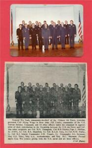 Photo & clipping ~ General Wa Yueh Cmdr-in-Chief o/t CAF ~ Presents Flying Wings