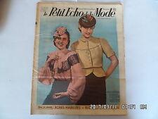 LE PETIT ECHO DE LA MODE N°10 05/03/1939 ROBES HABILLEES BLOUSES CHAPEAUX    K39