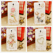 Fashion Rhinestone Clear Bling Diamond Crystal Hard PC Back Case Cover For HTC