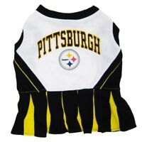Pittsburgh Steelers NFL Cheerleader Dog Pet Dress Outfit Sizes XS-M