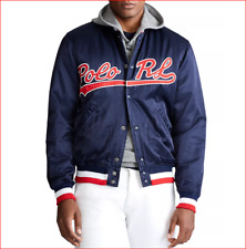 "🔥 $398 SPRING 2020 POLO RALPH LAUREN ""Polo RL"" Logo Baseball Jacket SZ M🔥"