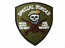 Mess With The Best Special Forces Iron On Embroidered Shirt Jeans Badge Patch