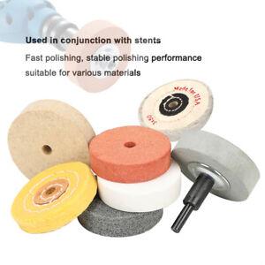 "3"" 75mm 1/8PCS Polisher Polishing Buffing Pads Fiber Wool Cloth Wheel Drill Kit"