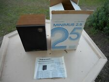 NEW REALISTIC MINIMUS 2.5 SPEAKER # 40-1999A Walnut Grained Vinyl Veneer NOS