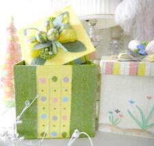 Shabby Sugar Crystal Chic Painted Decorative Easter Polka Dot Display Box New