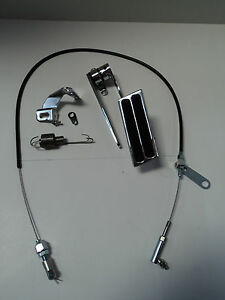 Billet Aluminum 2 Pad Gas Pedal / Black Throttle Cable / Bracket & Spring Combo