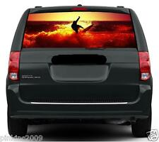 Surfer Surfing at Sunset Car or Caravan Window Vehicle Graphic Sticker/Decal