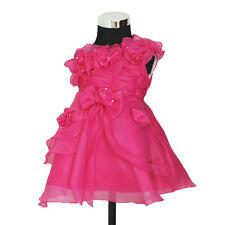 NUEVO Fiesta Niña Flores Dama De Honor Traje paje amarillo,rosa