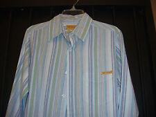 NEW Get Lucky Brand Long Sleeve Men's Striped Button down Dress Casual Shirt M