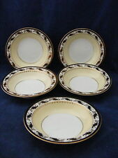 "5 Noritake Devon 5.5"" Fruit Bowls Hand Painted Mint Condition"