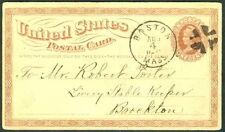 "US 1870's ""Stolen"" horse reward advertising on used UX3"