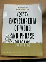"""5090cmQPB Enciclopedia De Palabras Y Frases Origins """"Pesado Libro Bolsillo ( Xx)"""